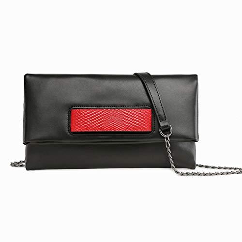 JBAG Frauen Umschlag Handtaschen, weiche Rindsleder Umhängetasche, Designer Umhängetasche, High Capacity Clutch Purse, Abendtasche, schwarz -