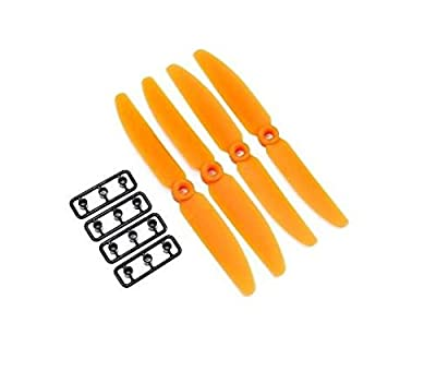 Genuine Gemfan 5030 5x4 Propellers 16 Pieces (8 CW, 8 CCW) Facil&co© - Black & Orange - Genuine & High Quality 5-inch Quadcopter and Multirotor Props