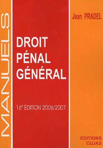 Manuel de droit pénal général par Jean Pradel