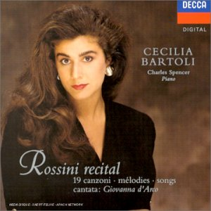 Cecilia Bartoli - Rossini recital (19 mélodies + cantata 'Giovanna d'Arco)
