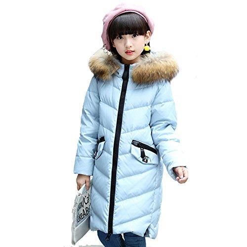 LSERVER-Daunenjacke kinder Winterjacke lang Wintermantel mit Kaputze Daunenmantel mädchen Junge Baby