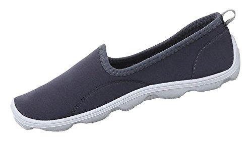 Damen Schuhe Halbschuhe Slipper Freizeitschuhe Grau