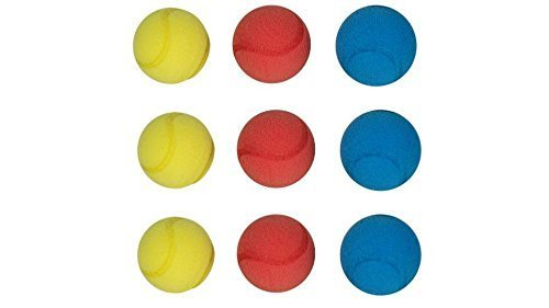 Neu Weich Schwamm Tennisbälle - HTI Brand - Rot, Blau, Gelb