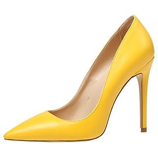 AOOAR Damen High Heel Klassische Gelb PU Büro Pumps EU 40