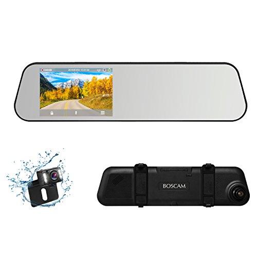BOSCAM R1 Autokamera Rückfahrkamera Set,Full HD 1080P Dual Lens Dashcam, 4.5