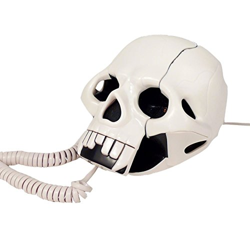 "Design Schnur- Telefon ""Lippen Kuhmuster Totenkopf Muster "" ideal als DEKO oder Geschenk Kabelgebunden viele Modelle (92004-003-0000)"