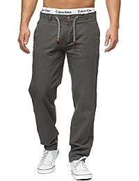 Indicode Homme Pantalons Casual Lin Pantalon En tissu confortable Veneto