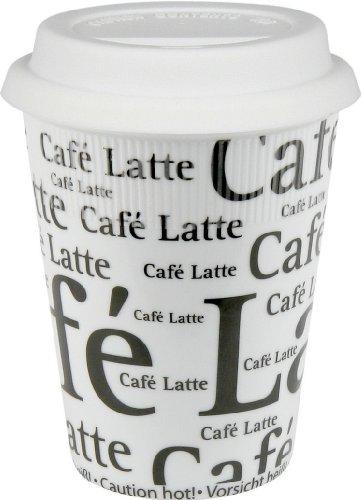Konitz 4452620647Set von 4Große Reise Tassen, Cafe Latte Schreiben auf weiß (Caf Latte Cup)