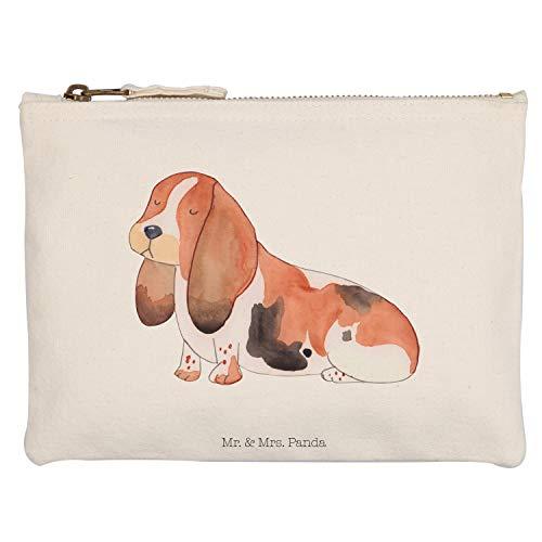 Mr. & Mrs. Panda Kosmetiktasche, Federmappe, M Schminktasche Hund Basset Hound - Farbe Transparent -