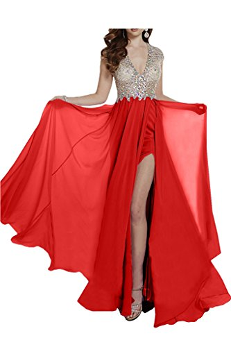 Missdressy -  Vestito  - linea ad a - Donna Rouge - Rouge