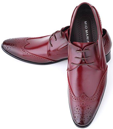 Mio Marino Leder Herren Anzugschuhe: Elegante Derby Schuhe aus Echtleder - Schnürhalbschuhe & Business Schuhe für jeden Anlass Carbenet - Brogue