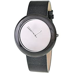 RITAL Women Wrist Watch Fashion Design Simple Clean Silver Dial Black Case and Strap Extremely Fashionable Wrist Watch for Women and Girls