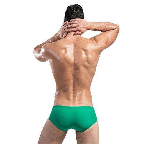 Lantra Besa (Homme Natation Surf Sous-vêtements Bikini Slip Swimmwear Pantalon avec cordon de serrage en nylon et Spandex (asiatique M-XXL, UK S-XL) Green-Yellow