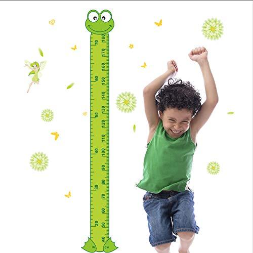 ikjuh Cartoon Frosch Grün Höhe Maßnahme Wandaufkleber Kinderzimmer Dekoration Baby Kinder Spielzimmer Kinderzimmer Wachstum Diagramm PVC Aufkleber
