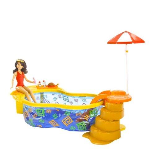 2 Country Club Pool und Gabriella Figur (Gabriella Aus High School Musical Kostüm)