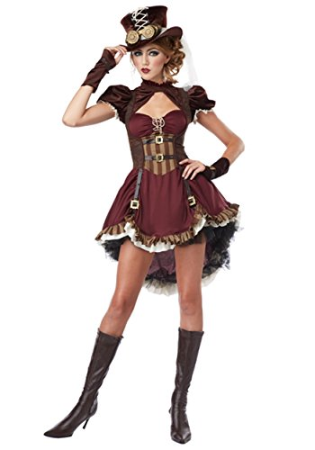 Adult Time Adventure Kostüm - Plus Size Steampunk Lady Fancy Dress Costume 4X
