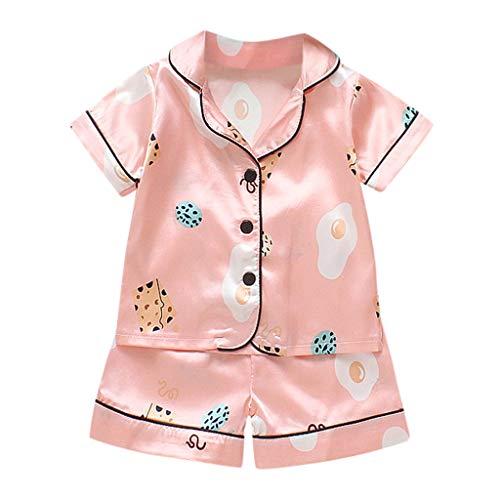 Julhold Kleinkind Kinder Baby Jungen Mädchen Mode Cartoon Pyjamas Nachtwäsche Bequemes T-Shirt Shorts Kleidung Set 0-3 Jahre (Halloween-ideen Für Jungen 1-jährigen)