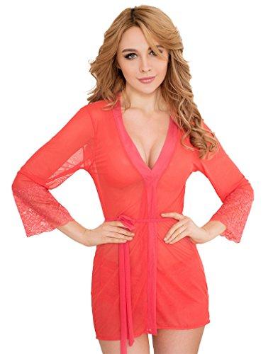 ohyeahlady - Ensemble de pyjama - Femme rouge pastèque
