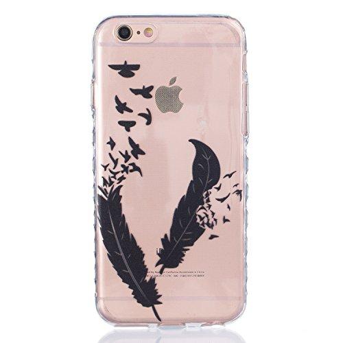 Coque iPhone 6 Plus Silicone Coque pour iPhone 6s Plus (5.5), Sunroyal® Ultra Slim Etui Housse Transparente [Absorption de Choc] Gel TPU Souple Shell Protection pour Apple iPhone 6 Plus/6s Plus (5.5 p Non-slip 04