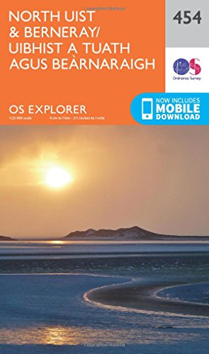 OS Explorer Map (454) North Uist and Berneray/Uibhist a Tuath Agus Bearnaraigh (OS Explorer Paper Map) (OS Explorer Active Map)