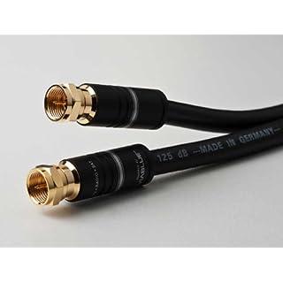 DCSk Satellitenkabel/Koaxialkabel, 5-fach abgeschirmtes Class A+ Koax-Kabel, für digitales Fernsehen, TV/Receiver / Radio, 125 dB, 75 Ohm, 10m schwarz