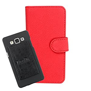 DooDa PU Leather Wallet Flip Case Cover With Card & ID Slots For Micromax Canvas Express 4G Q413 - Back Cover Not Included Peel And Paste