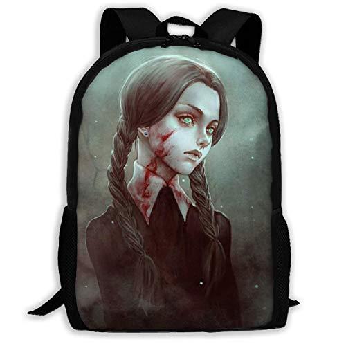 ADGBag School Backpack Goth Gothic Women Girl Blood Bookbag Casual Travel Bag for Teen Boys Girls Shoulder Bag Book Scholl Travel Backpack Kinderrucksack Rucksack Gothic School Girl
