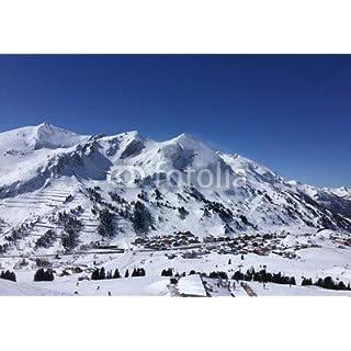adrium Poster-Bild 70 x 50 cm: skigebiet in den Alpen in obertauern, Bild auf Poster