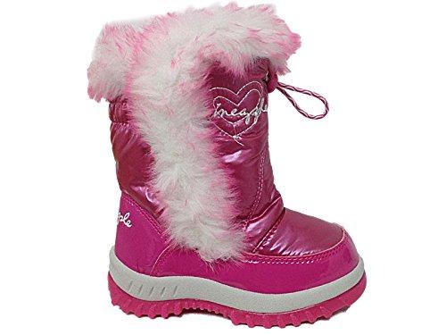 Foster Footwear - Botas de nieve niña chica , color rosa, talla 30 E