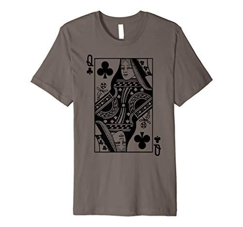 Kreuz Königin Kostüm T Shirt Blackjack Spielkarte Geschenk