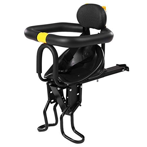 Ggoddess Fahrrad Vordersitz mit Handlauf Rückenlehne und Fußplattform, Umweltschutz Fahrrad Baby Sitz, Kinder Kindertrage