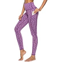 Hibbent Legging Femme Pantalon d Entraînement Course de Sport Yoga Fitness  Gym Pilates Taille Haute d21d26fbacd