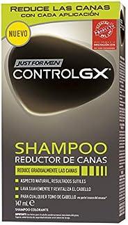 Just For Men Control GX - Champú Reductor de Canas, Tinte para las canas del pelo para hombres, Negro - 147 ml