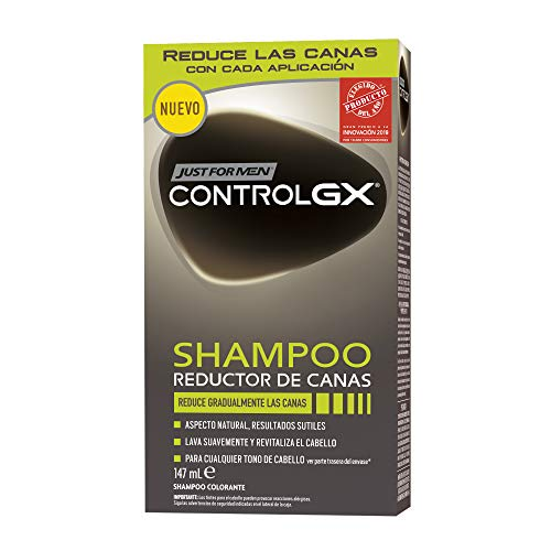 Just For Men Control GX Champú Reductor de Canas - Tinte para las canas del...