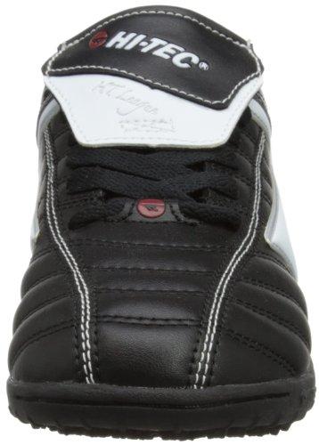 Hitachi - League Astro Jr, Scarpe da calcio Unisex - Bambini nero (Black/White/Red)
