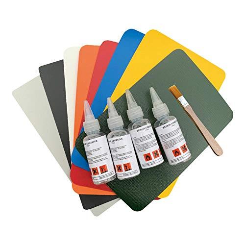 Dubleir 4 STÜCKE PVC Kleber Professionelle Patch Repair Kit, Leder Material Reparatur Patches Kleber Set Für Home Repair Schlauchboot Boot Kanu Kajak