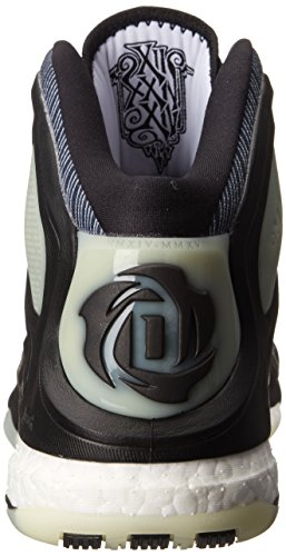 Adidas D Rose 5 Boost Laufschuhe Black/White/Glow Yellow