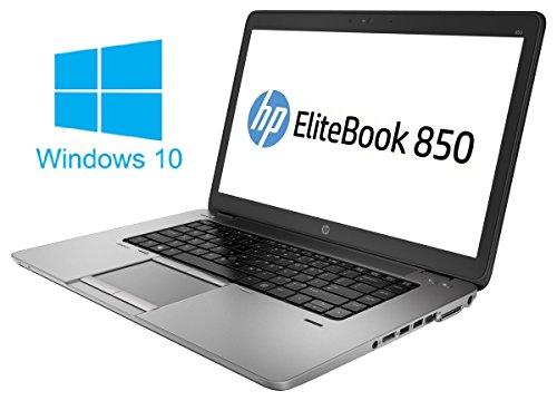 HP Elitebook 850 G1 Notebook / Laptop | 15.6 Zoll Display | Intel Core i5-4210U @ 1,7 GHz | 4GB DDR3 RAM | 320 GB HDD | Windows 10 Pro vorinstalliert (Zertifiziert und Generalüberholt) (1,7 Ghz Notebook)