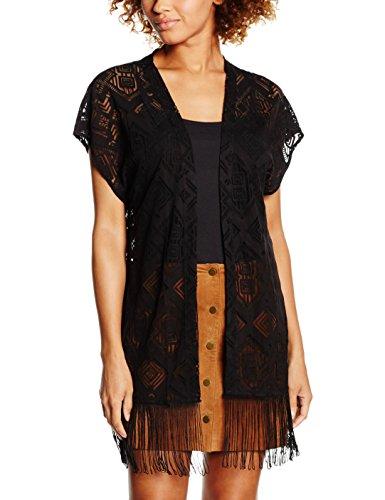 VERO MODA Damen VMCARLA 2/4 Long Cardigan DNM Strickjacke, Schwarz (Black), 38 (Herstellergröße: M) (21, Kleidung Forever Für Frauen)