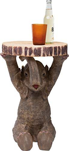 Kare Design Beistelltisch Animal Elefant, Ø35cm, kleiner, runder Couchtisch, Holzoptik, Tierfigur...