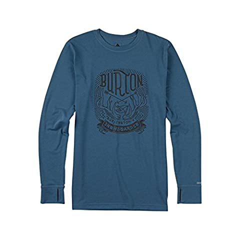 Burton Midweight Crew Thermal - Washed Blue Small