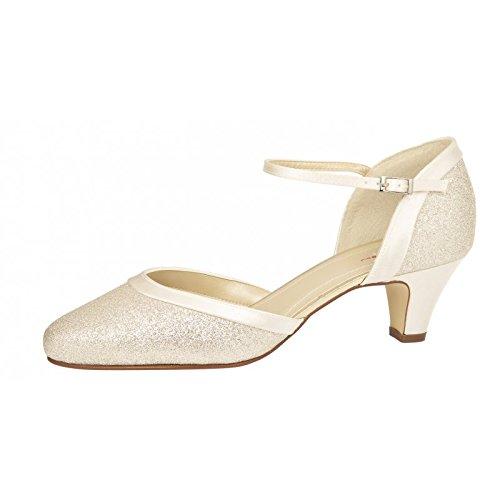 Rainbow Club Chaussures de mariée Ester - Blanc Cassé - Ivoire, 38.0 (5)