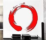 stickers muraux citations walt disney Sticker Cercle Enso Zen Bouddhisme Calligraphie Japon Stickers Muraux Décor À La Maison Salon
