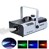 MuGuang 1500W Macchina del Fumo Machine à Brouillard 2L 9 LED RGB DMX per Stage Wedding Disco DJ Bar Party con Telecomando e Telecomando Senza Fili