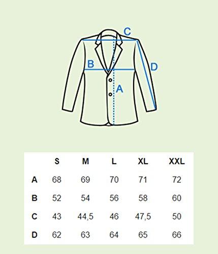 BetterStylz David Homme un Bouton Veston Blazer Veste de Coustume Slim Fit Taille ajustée Homme diverse couleurs S-XXL Bleu Foncé