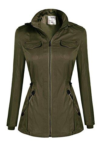 Damen Winter Trenchcoat Jacke Mantel Jacket Outwear Oberteil