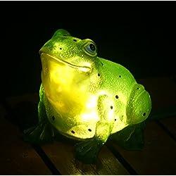 TIAAN 157807 Solarbetriebenes LED-Garten-Dekor im Freien, Frosch mit LED-Leuchten