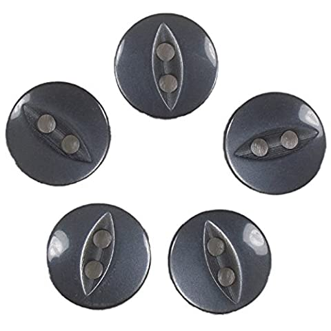Fisheye Basic Buttons 16mm (Grey, 5)