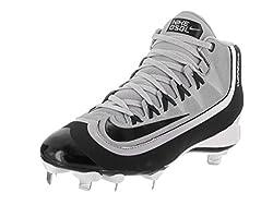 Nike Men's Huarache 2kfilth Pro Mid Wolf Greyblackanthrctwhite Baseball Cleat 10 Men Us