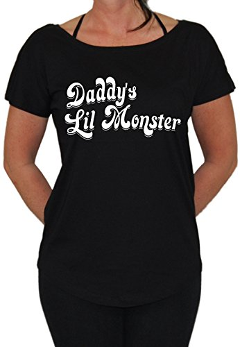 Daddy´s Lil Monster Loose Fit Girlie Schwarz